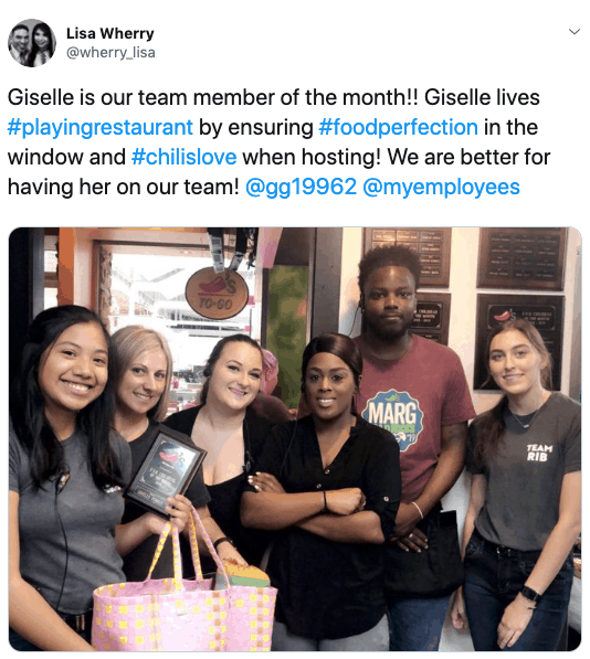 sharing winners pics is important to remember when you start an employee of the month program