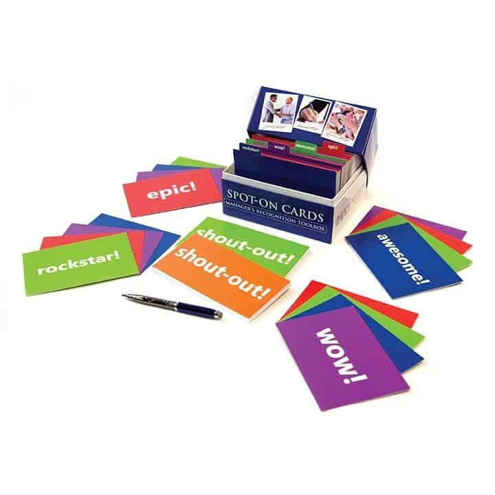 spot-on cards and shout-out pads are perfect for peer-to-peer recognition