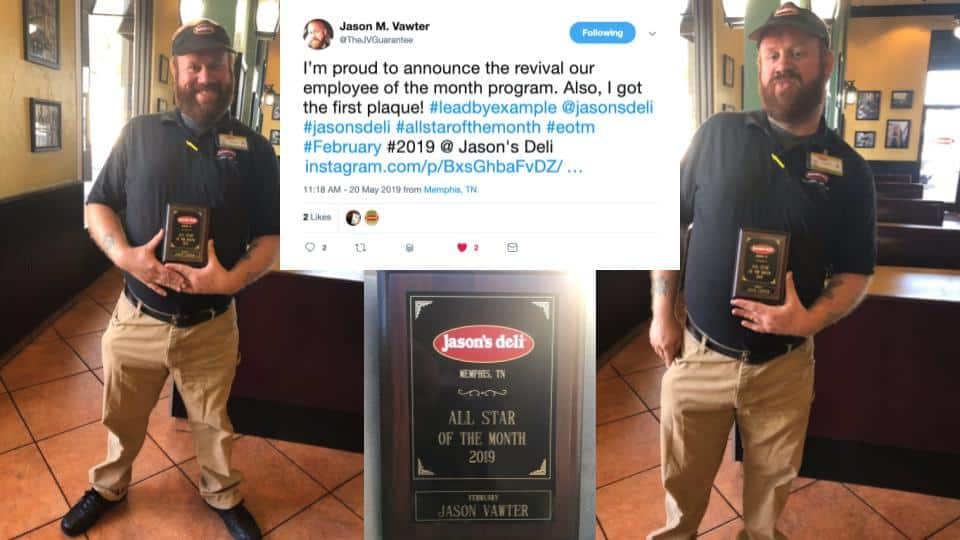 Jason's Deli February All Star of the Month from Memphis Tennessee